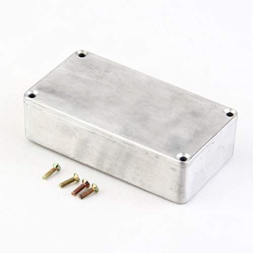 LeoboodePortable Aluminium Musikinstrumente Kit Kabel Stomp Box Effektpedal Gehäuse Für Gitarreneffekt Style Cases Halter