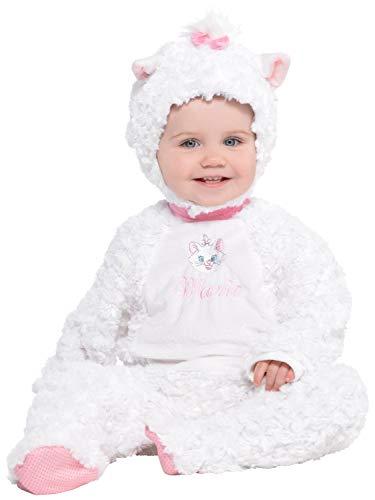 Aristocats Marie Kostüm - Fancy Me Baby Mädchen Kleinkind Offizielles The Aristocats Marie Plüsch weiß rosa Disney TV-Buch Film Kostüm Kostüm Outfit 6-24 Monate