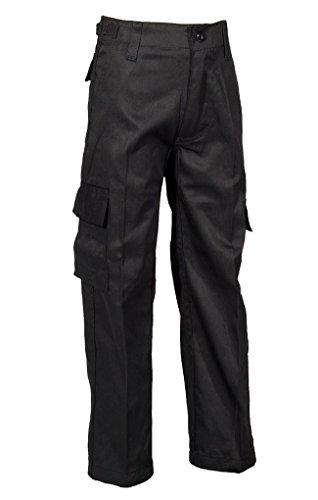 e US Style Kinder Jungen Mädchen Rangerhose Freizeithose Kampfhose viele verschiedene Farben S-XXXL (S (122/128), Schwarz) ()