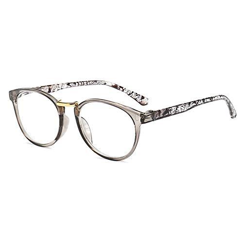 GEMSeven Federscharnier Pc Rahmen Männer Lesebrille Frauen Vintage Gedruckt Beine Presbyopie Brillen