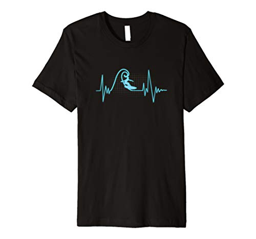Herzschlag Surfer Shirt Surfen Liebhaber Geschenk