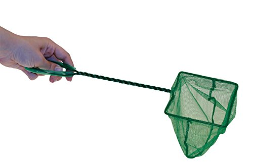 Aquarium Fangnetz Größe 8cm Kescher Fischnetz grün Aquariumnetz Fischkescher