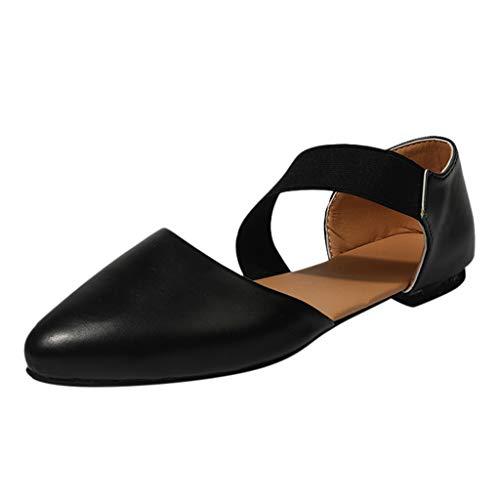Strungten Schuhe für Frauen Round Toe Platform Strap Flache Ferse Schnalle Leopard Sandalen Casual Gummiband Spitzen Schuhe Strap Platform Schuhe