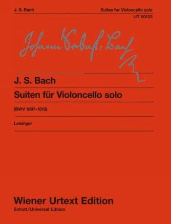 6 Suiten für Violoncello solo BWV 1007-1012 von Johann Sebastian Bach -- Urtextausgabe mit Bleistift des bekannten Solowerkes von Wiener Urtext Edition (Noten/sheet music)