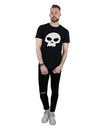 Disney Herren Toy Story Sid's Skull T-Shirt Schwarz