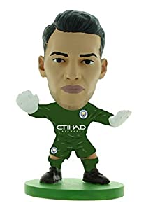 SoccerStarz SOC1310 Man City Ederson-Home Kit (2019 Version)/Figuras, Verde