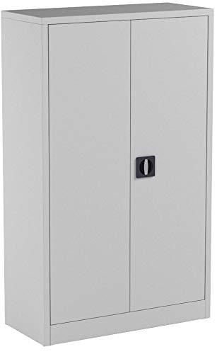 Vicco Aktenschrank Büroschrank Werkzeugschrank Metallschrank (Grau, 140x85x39cm)
