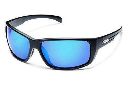 Suncloud S-MIPPUMMB Herren-Schwarz-Rahmen Blue Lens Squre Polarized Sonnenbrillen