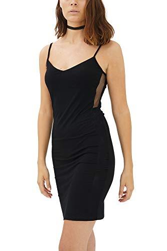 trueprodigy Casual Femme Robe uni, Vetements Swag Marque Sexy (Sportif & Slim fit Classic), Cocktail Mode Fashion Couleur: Noir 5082517-2999-XL