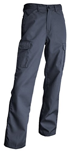 Smart workwear Hommes Pantalons de Travail Poches Multiples Drill KG Cargo (46, Gris)