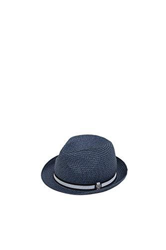 ESPRIT Accessoires Herren 049Ea2P001 Panamahut, Blau (Navy 400), Large (Herstellergröße: L)