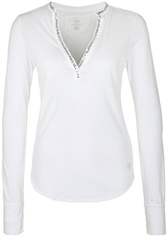 BETTER RICH Damen Longsleeve POLO STAND UP PAILLETTE