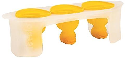 Tovolo Eisformen/Eiswürfeltablett, 2-teiliger Satz, transparent, Silikon, gelb, 10 x 10 x 17.5 cm