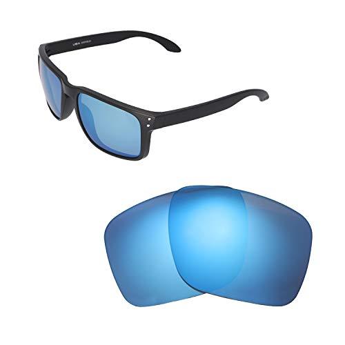 Walleva Ersatzgläser für Oakley Holbrook XL Sonnenbrille - Verschiedene Optionen erhältlich, Unisex-Erwachsene, Ice Blue Coated - Polarized, Einheitsgröße