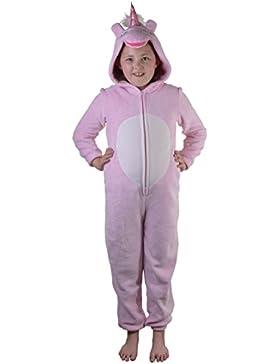 Lindo para niños y adolescentes niños niñas suave forro polar con capucha todo en uno mono, varios estilos, edades...