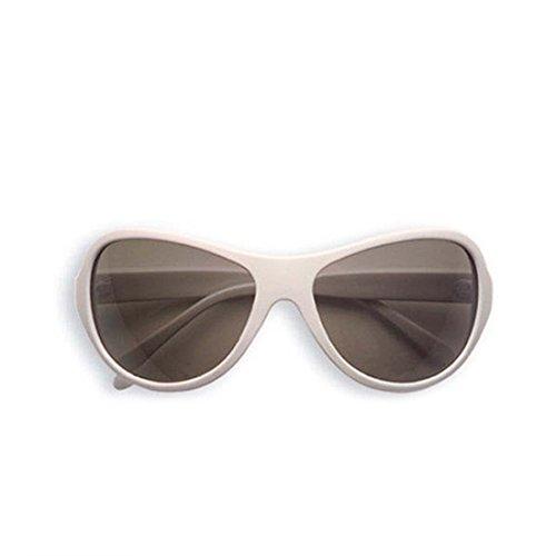 Brille Retro Partybrille weiß Hippie Star Discobrille Hollywood Unisex Spaßbrille Große Flower Power Modebrille Mottoparty Disco Accessoire (Star Brille)