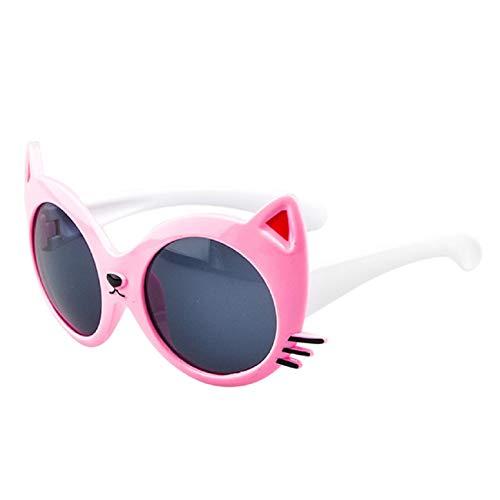 Barlingrock Sonnenbrille Baby Comfort Cartoon Cat Sonnenbrille Junge und Mädchen 2T-12T Sonnenschutz Anti-UV Flexible Safe Komfortable Schutzbrille