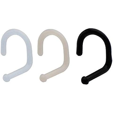 3pc nero, carne e chiaro Bioflex flessibile naso anello Piercing naso fermo Disco 16gauge, confezione da 3EG Gifts