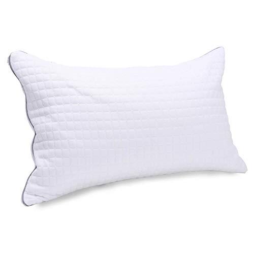 Kingnex® Latex-Schaumstoff-Kissen, hypoallergen, verstellbar, zerkleinert, Kühlkissen mit abnehmbarem Bezug aus Viskose King weiß -