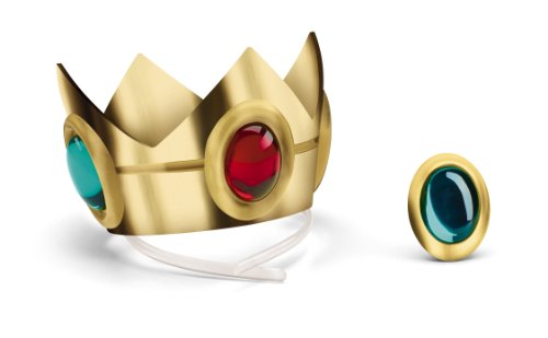 Mario Kostüm Cute Bros - Disguise Nintendo Super Mario Brothers Princess Peach Crown and Amulet, No Size