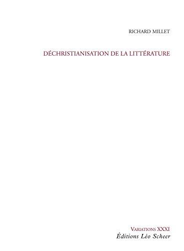 Dchristianisation de la littrature