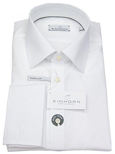 Einhorn Herren Hemd Modern Fit Jamie Umschlagmanschette Weiß 871.11305 1, Größe 39