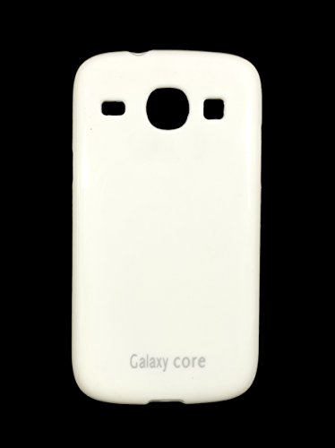 iCandy Soft TPU Shiny Back Cover For Samsung Galaxy Core I8260 / 8262- White  available at amazon for Rs.109