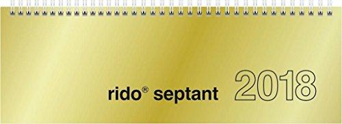 Preisvergleich Produktbild Rido Schreibtischquerkalender Septant 30,5x10,5cm Chromolux gold 2018