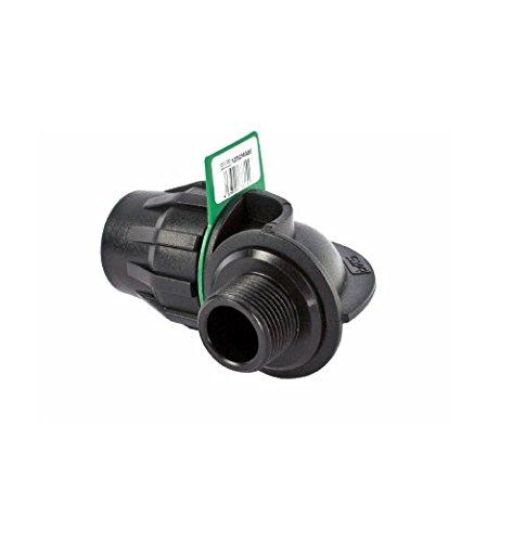 SYR Brico Fitting – Coude 90 ° Filetage mâle, 11 x 8 x 9 cm, couleur noir