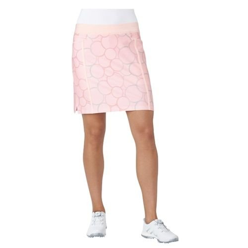 Adidas Ultimate Adistar Printed Skort Rock Damen lachs Größe L (Golf Damen Rock)