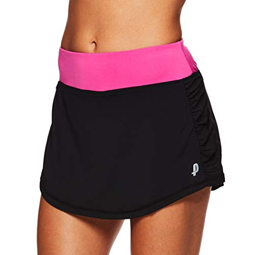 Penn Damen Tennis- und Golfrock aus massivem Rocket Mesh - Schwarz - X-Klein