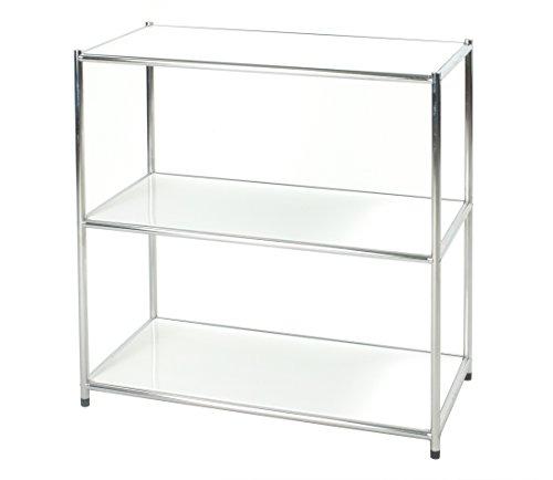Archimede Easy! Bücherregal, Metall, Verchromt/Weiß