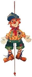 Hampelmann Filou Hampelfigur Clown Holz 2639