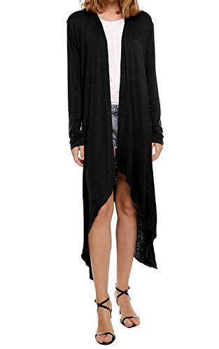 Cardigan Manteau Longues - BienBien Femme 2017 Mode Tempérament Asymétrique Tricot Manches Longue Coat Tops Noir