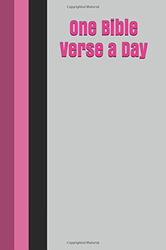One Bible Verse a Day: A Scripture Writing Journal for a Year of Daily Devotions for Women and Teen Girls with Pink Stripes Cover