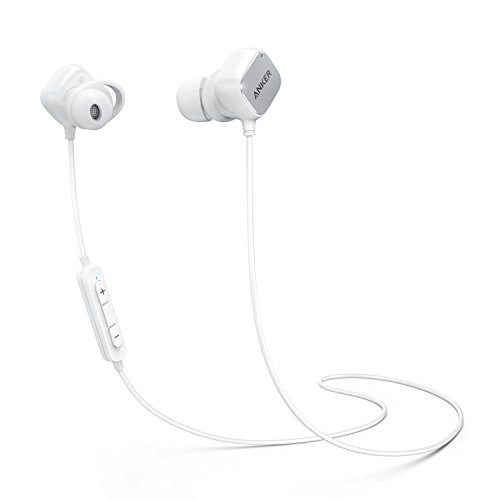 Anker SoundBuds Tag In Ear Bluetooth Kopfhörer Kabellose magnetische Kopfhörer mit aptX Technologie, CVC 6.0 Noise Cancelling, 6 Stunden Spielzeit, Headset mit Mikrofon (Weiß)