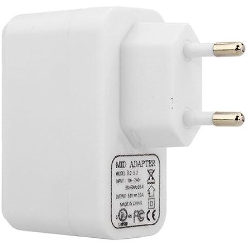 Adaptador Blanco 5V 2A de la UE Cargador Universal de alimentación Para Tablet.