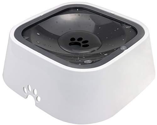 Joytale Auslaufsicherer Wassernapf für Haustiere, rutschfest Hund und Katze Wasserschale,1500ML,Grau