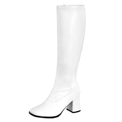 Heels-Perfect Gogo Stiefel, Damen, Weiss (Weiss), Größe 44