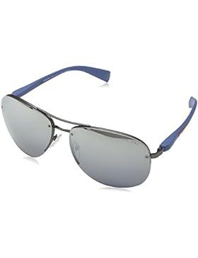 Prada Linea Rossa PS 56MS, Gafas de Sol para Hombre, Gunmetal Rubber, 65