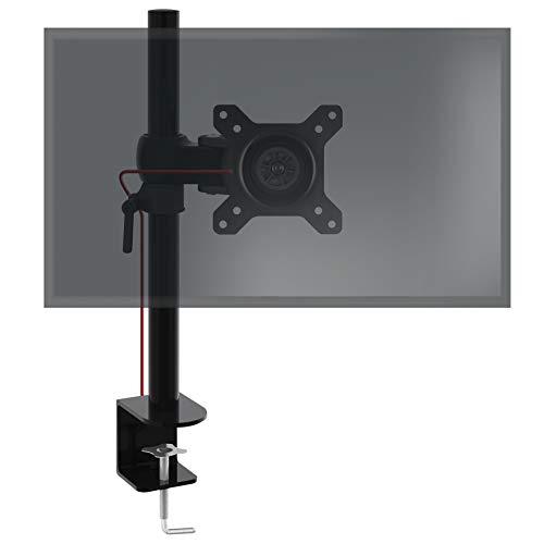 Duronic DM351X1 Supporto monitor da scrivania con morsetto – Braccio monitor da tavolo in alluminio – Altezza regolabile e orientabile – Compatibilità universale con schermi TV monitor con VESA 100*100