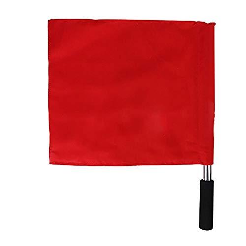 SolUptanisu Mini Flagge Hand Befehlssignal Wehende Flagge Handheld Mini Fahnen für Sport Rennen Wettbewerb Start Leichtathletik Corner Patrol Hand Flagge Partydekorationen Lieferungen(Rot)