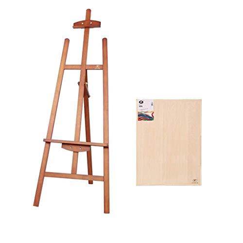 HBSCB Planche à Dessin - Chevalet Support Adulte Peinture à l'huile en Bois Cadre en Bois Massif Pliant Dessin Esquisse Sketching Dessin Chevalet en Carton (Color : A)