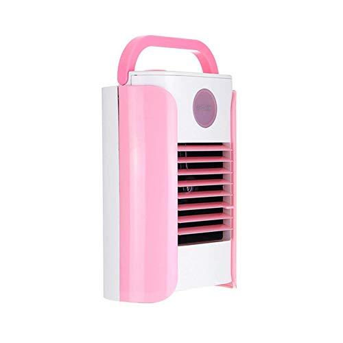 Genießen Hydrating Conditioner (CCYYA USB Portable Mini Air Conditioner Kühler, 3 Geschwindigkeiten Desktop Air Cooling Fan Luftbefeuchter Unterstützung Bluetooth Speaker Radio,Pink)