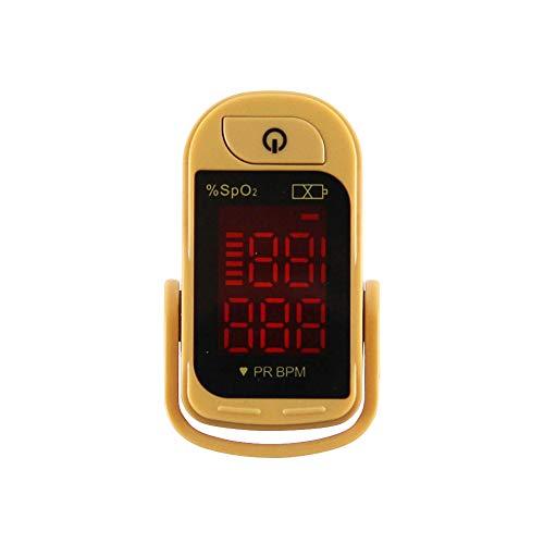 CHENG Finger-Pulsoximeter, tragbar, eine Taste Funktioniert mit LED-Anzeige-Oximeter-Finger