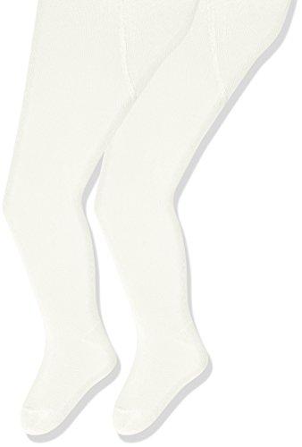 Sterntaler Doppelpack Strumpfhose für Babys, Alter: 7-12 Monate, Größe: 80, Weiß/Beige