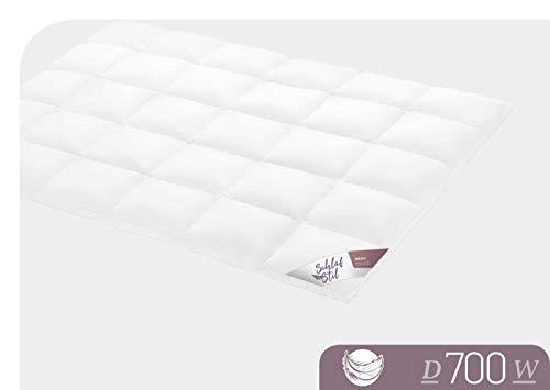SCHLAFSTIL Bettdecke Daunendecke D 700 Warm 155x 220 cm -