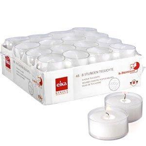 Eika 76364900 8 Std. Teelichte 48-er-Packung / PC-Cup / 2.5 x 3.9 cm / weiß