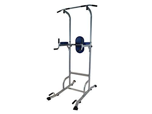maxofit® panca multifunzione power tower mf-2, per esercizi per spalle, bicipiti, tricipiti, addominali, pettorali, con soffice schienale rivestito in ecopelle, 124x 80x 226 cm