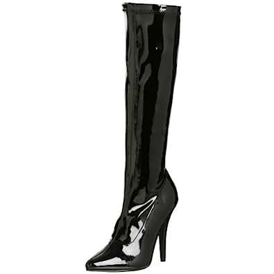 Pleaser SEDUCE-2000, Bottes Femme - Noir (Blk Str Pat), 36 EU